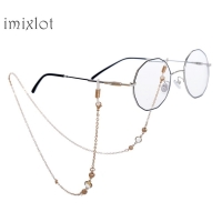 New Real Women Geometric Sunglasses Cord Patches High-quality Fashion Metal Eye Chain Sunglasses Anti-skid Glasses Bracket