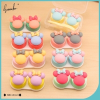 Lymouko Lovely Multicolor Mini Little Bowknot Portable Contact Lens Case for Women Gift Kit Holder Contact Lenses Box