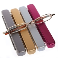 1PC Mini Portable Metal Full Frame Reading Glasses Eyeglasses +1.00 to +4.00