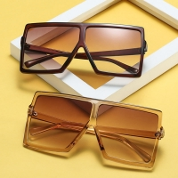 Big Frame Gradient Shades Oversized Sunglasses  Square Brand Designer Vintage Women Fashion Sun Glasses Oculos De Sol UV400