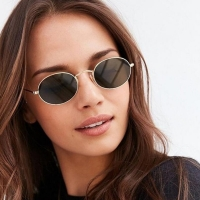 2020 Oval Women Sunglasses Men Glasses Lady Luxury Retro Metal Sun Glasses Vintage Mirror UV400 oculos de sol
