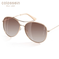 COLOSSEIN Luxury Vintage Sunglasses Women Glasses Ultralight Driving Pilot Polarized Sunglasses Men Gold Frame UV400 Eyewear