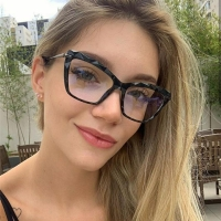 Fashion Square Glasses Frames For Women Trendy brand Sexy cat eye glasses frame Optical Computer Eyeglasses oculos Armacao 2019