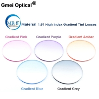 Radiation Protection 1.61 High Index MR-8 Super-Tough Gradient Tint HMC EMI Asphere Anti UV Myopia Hyperopia Prescription Lenses