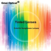 Gmei Optical Radiation Protection 1.56 Index Colored Prescription Lenses HMC EMI Anti UV Optical Tinted Lens For Sunglasses