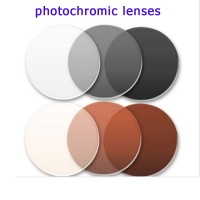 Photochromic Sunglasses Eye Lenses Anti-radiation Grey/brown Colored Lenses for Eyes Glasses Optical Prescription Glasses Women