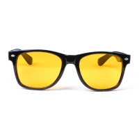 Unisex Square Yellow Lenses Acrylic Night-Vision Glasses Driving Glasses
