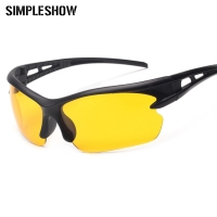 SIMPLESHOW Night Vision Glasses Men Women Driver Goggles Sun Glasses Anti Glare Night With Luminous Driving Sunglasses