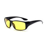 Car Anti Glare Driving Glasses Night-Vision Glasses Protective Gears Sunglasses Drivers Goggles Black Frame Yellow Lens Eyeglass