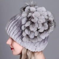 Fur Hat Female Rex Rabbit Hat For Women Winter High Quality Women's Fur Hats Beanies Winter Russian Warm Caps