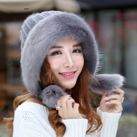 Kagenmo Cold Winter Women Bomber Hat Super Warm Thick Female Berets Fashion Thermal Hat Fluffy Ball Cute Lady Cap