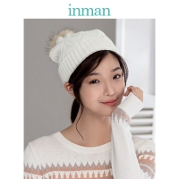 INMAN Winter Korean Style All Matched Thicken Fur Ball Warm Ears Cover Knit Cap