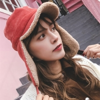 EOEODOIT Women Spring Winter Bomber Hats Warm Thick Added Warm Ear Protector Caps Visor Hat For Girls