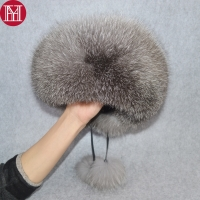 2019 New Style Winter Russian 100% Natural Real Fox Fur Hat Women Quality Real Fox Fur Bomber Hats Girl Real Genuine Fox Fur Cap