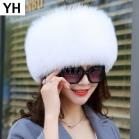 2019 Women Winter Natural Real Fox Fur Hat 100% Real Fox Fur Cap Quality Russia Warm Real Fox Fur Caps Real Fox Fur Bomber Hats