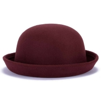 Fashion Winter Women Classic Vintage Jazz Warm Ladies Fedoras Bucket Casual Cotton Solid Sweet Outdoor Caps Top Small Hats