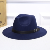 Fashion Winter Women Classic Vintage Jazz Ladies Buckle Fedoras Bucket Casual Cotton British Style Outdoor Caps Top Hats