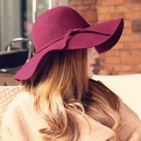 Women's Hat Cap Woman Classic Retro Jazz Warm Ladies Fedora Bucket Cotton Sweet Caps Wide Brim Top Sun Hat 2019 Trendy Vintage