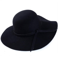 2018 New Fedoras Hot Sun Vintage Women's Floppy Bowknot Cloche Cap Wide Brim Wool Felt Bowler Fedora Ladies Holiday Outdoor Hat