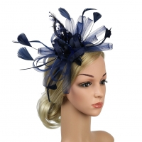 Fashion Retro Fedoras Fascinator Women Headband Derby day Party Wedding Banquet Prom Gift Feather Mesh Bowknot Hair Accessory
