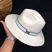 White wool  hat big brim hat socialite elegant female retro joker men&women for hat fedoras