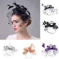 Womens Hat Cap Fedoras Dress Fascinator Wool Felt Pillbox Hat Party Penny Mesh Hat Ribbons And Feathers Wedding Party Hat
