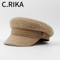 2019 Spring Fashion Military Hats for Women Vintage Flat Top Black Beret Army Cap Bone Female Gorras Octagonal Cap sailor hat