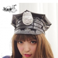 2019 black police hat cosplay police military hat uniform cap police uniform hat halloween party supplies