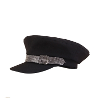 2019 Fashion Visor Hat Women Summer Female Hat Summer Woman Sequins Diamond Belt Womens Military Hats Young Student Military Cap