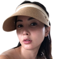 2020 New Women's Sun Hats Handmade Straw Visor Caps Parent-Child Summer Hat Empty Top Beach Hat