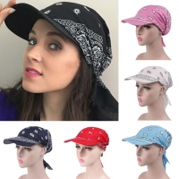 Women India Muslim Retro Floral Cotton Towel Cap Brim Turban Baseball Hat Wrap summer sun hats for women straw hat summer hat