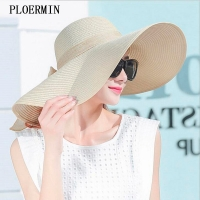 Elegant Style Summer Large Brim Straw Hat Adult Women Girls Fashion Sun Hat uv Protect Big Bow Summer Beach Hat