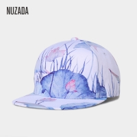 Brand NUZADA Small Fresh Style 3D Printing Women Hip Hop Cap Exclusive Design Spring Summer Autumn