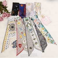 New Tarot Element Constellation Print Women Silk Riband Handle Bags Scarf Small Ribbon Hair Band Headband Scarves & Wraps