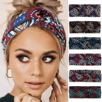 Bohemian Headband Flowers Printed Elastic Headbands Hair Bands For Women Knot Female Girl Turban Hair Accessories Scrunchies