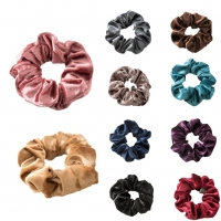 Solid Lady Hair Scrunchies Ring Elastic Hair Bands Pure Color Bobble Sports Dance Velvet Soft Charming Scrunchie Hairband