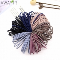 AWAYT 50pcs/Set 5CM Hair Accessories Women Rubber Bands Scrunchy Elastic Hair Bands Girls Headband Decorations Ties Gum for Hair