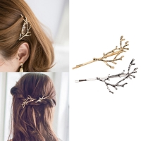 Vintage Gold Silver Tree Hair Clips Girls Alloy Branch Hairpins Fashion Hairgrips Lady Elegance Metal Hair Accessories For Women