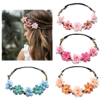 2020 New Years Floral Crown Fashion Flower Headband for Beatuiful Girls Crown Hair Accessories Party Stylish diademas para mujer