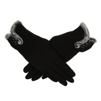 New Style Women Female Gloves Winter Warm Women Leater Waterproof Driving Full Finger Gloves Touch Screen Gloves For Mobile 18No