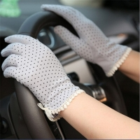 1Pair New Women's Driving Slip-resistant Sunscreen Cotton Golves Fashion Summer/Autumn Female Sun Protection Non-slip Glove