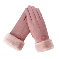Classic Luvas de inverno Womens Fashion Winter Outdoor Sport Warm Gloves Mittens Eldiven solid pink Guantes femme 2018 18Nov