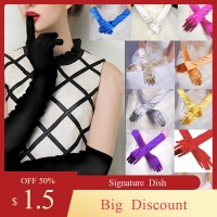 Womens Satin Long Gloves Opera  Evening Party Prom Gloves Stretch Satin  Evening Gloves  Gloves banquet