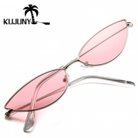 KUJUNY Women Cat Eye Sunglasses Cute Sexy Brand Designer Glasses Summer Retro Small Frame Black Red Cateye Sun Glasses
