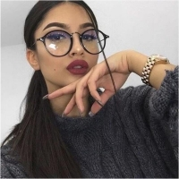 Temples For Glasses Round Glasses Eyeglasses Women Transparent Frame 2019 Retro Spectacles Optical Frames Clear Lens Glasses