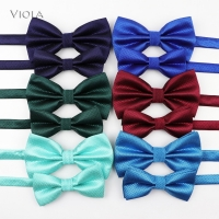 Solid Parent-Child Bowtie Set Charming Kids Pets Chic Family Butterfly Satin Party Dinner Wedding Design Cute bow tie Accessory