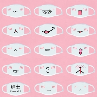 Cute Emoticon Mask Fashion Winter Cotton Funny Auti-Dust Anime Emotiction Kawaii Half Mouth Face Mask Supplies
