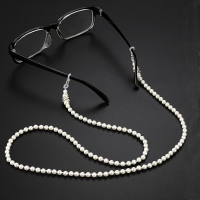 Pearl Sunglasses Chain Wearing Neck Holding Beaded Lanyard Cord  Pearl Beaded Sunglass Reading Glasses ChainEyewear Accessories