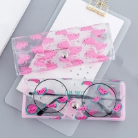 Cartoon Cute Travel Women Transparent PVC Eye Glasses Box Bag Case Protection Holder Carry Box Eyewear Accessories