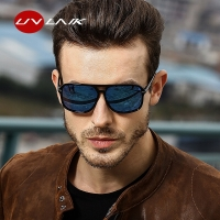 UVLAIK Rectangle Polarized Sunglasses Men Oversized Mirror Driving Sun Glasses Brand Designer Driver Sunglass UV400 Goggles
